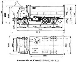 Автомобиль КАМАЗ 55102